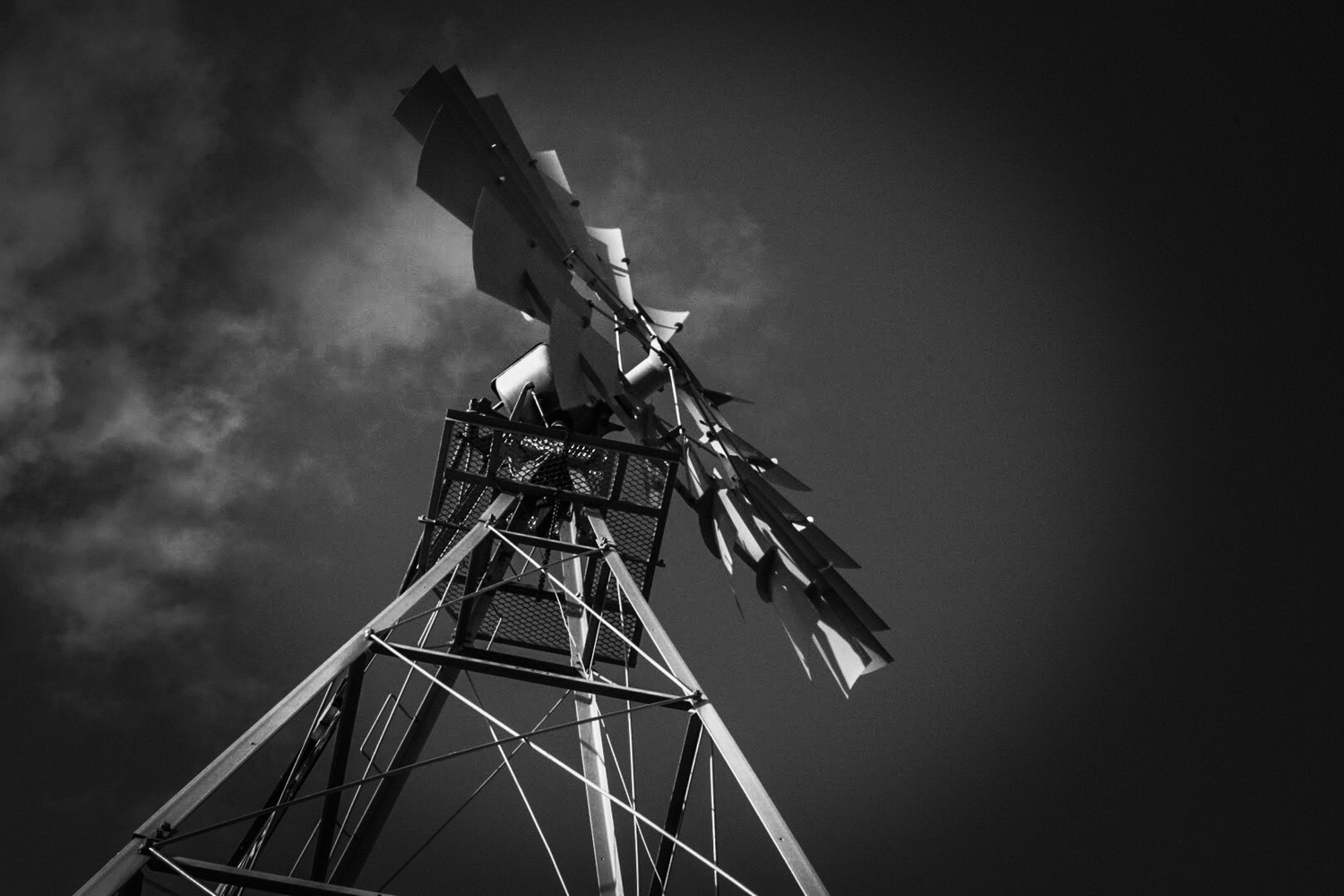 Windmill Black & White by Robert Bruton