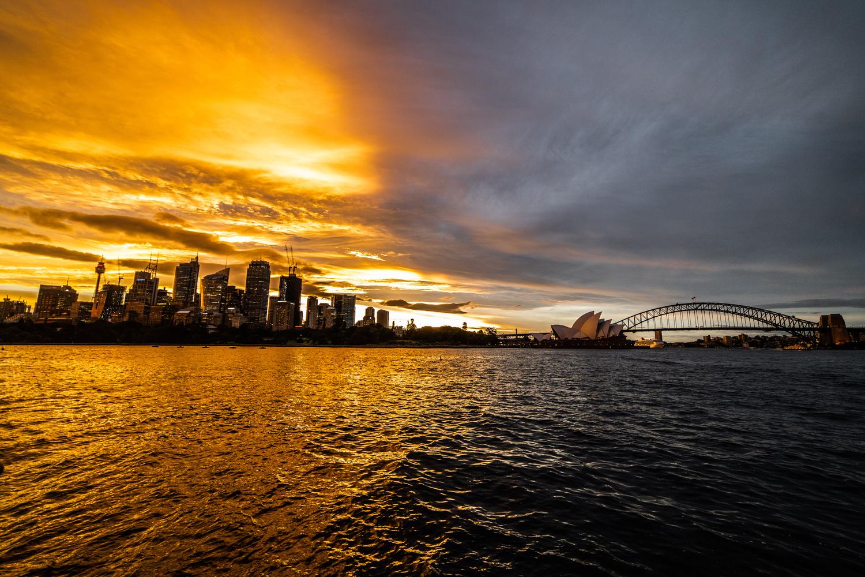 Split Sky Over Sydney by Aaron Oliveri