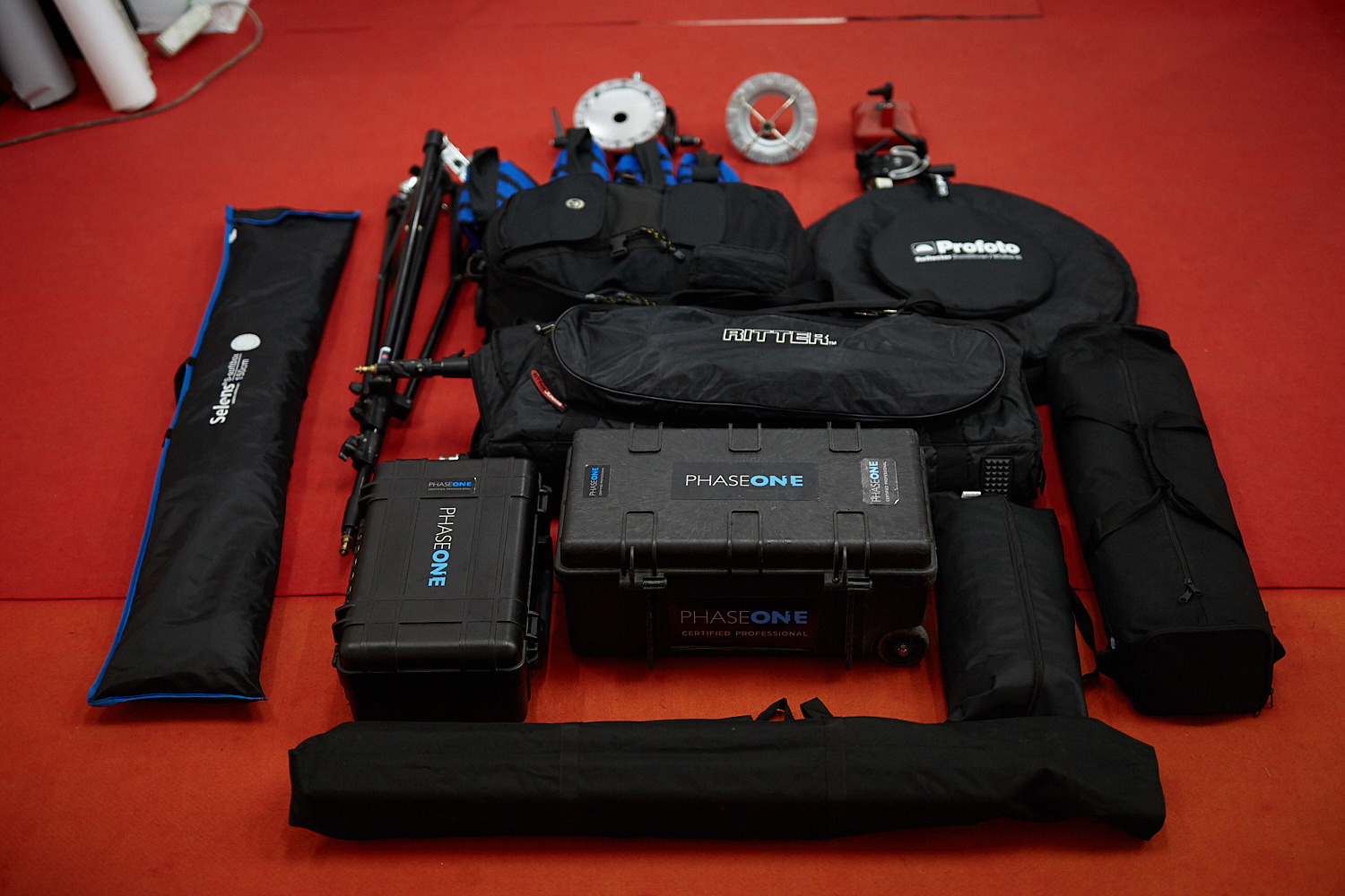 Some of the equipment by Adolfo Usier