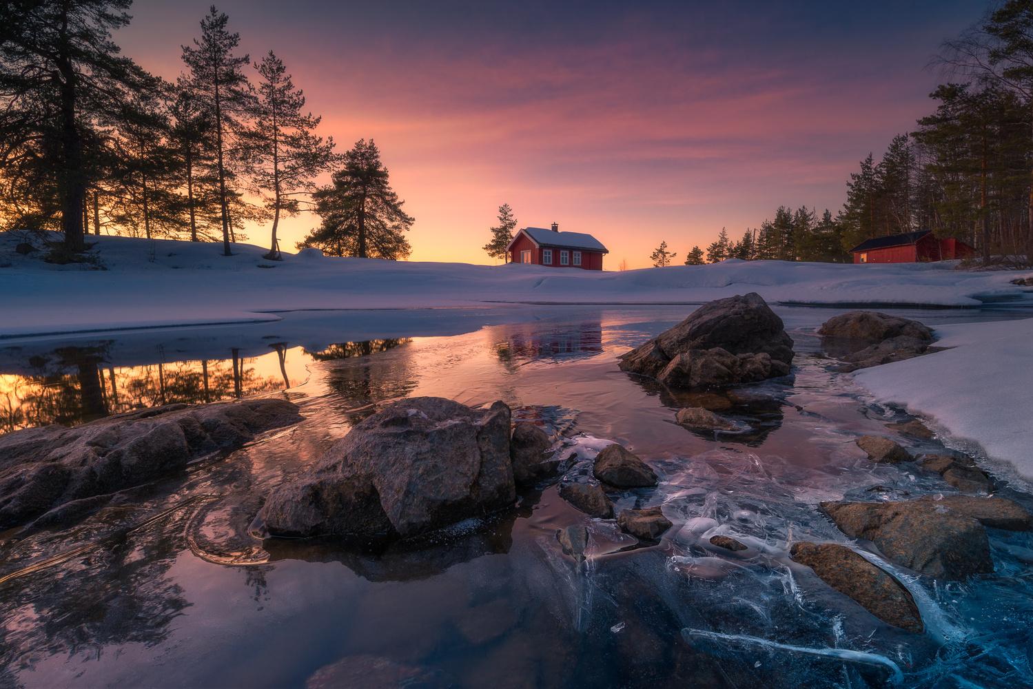 Under a Red Sky by Ole Henrik Skjelstad