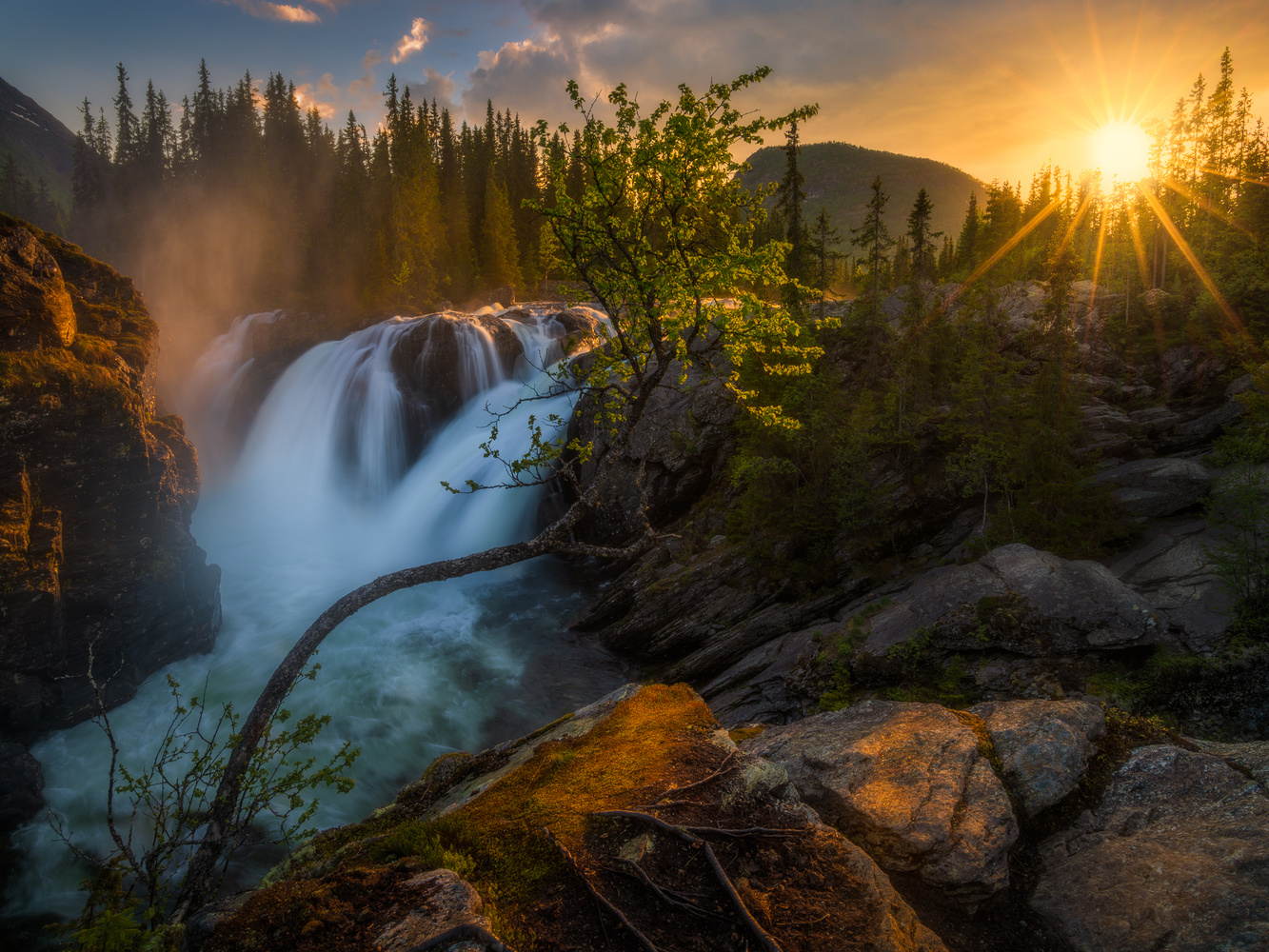 Multiple Falls by Ole Henrik Skjelstad
