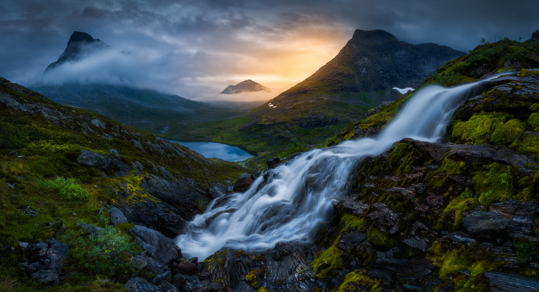 Foggy Sunrise by Ole Henrik Skjelstad