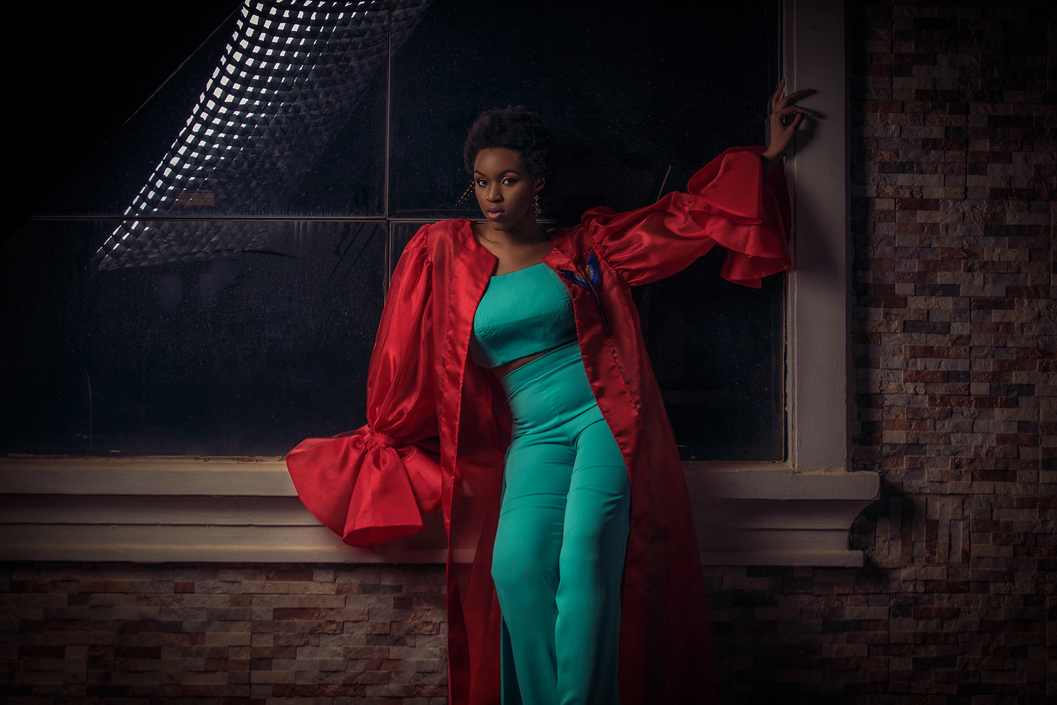 Red and Turquoise by Rodney Omeokachie