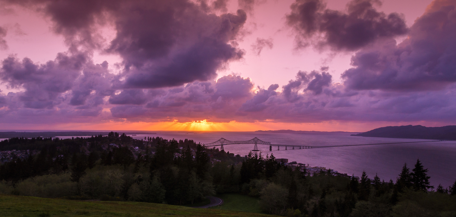 Sunset over Astoria by Jack Brown