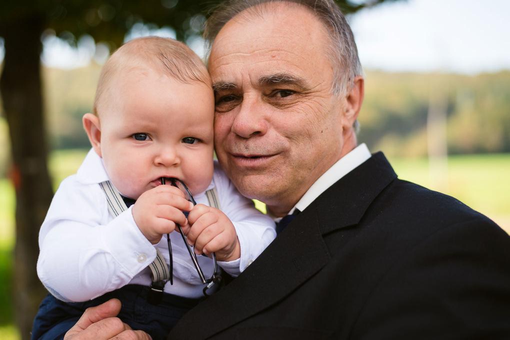 Grandpa and his grandson by Tomaž Kos