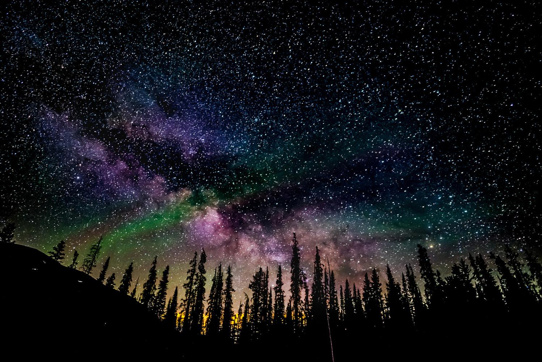 Milky Way Wide Shot Lake Irene  by William Varner
