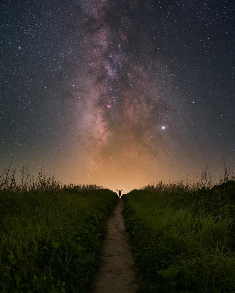 Milky Way Selfie by Ryan Luna