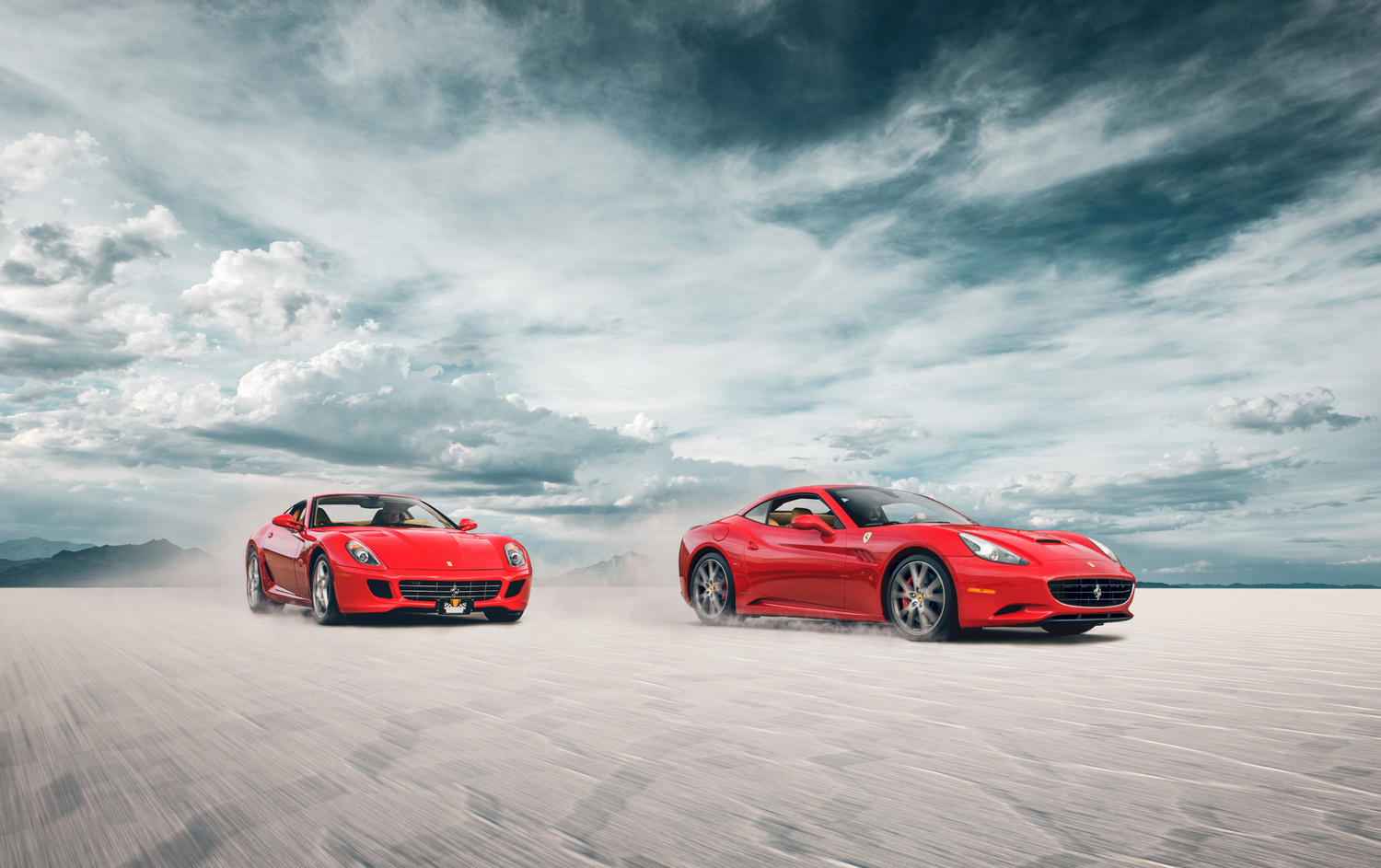 Ferrari 599 GTB Fiorano and Ferrari California by Dominic Mann