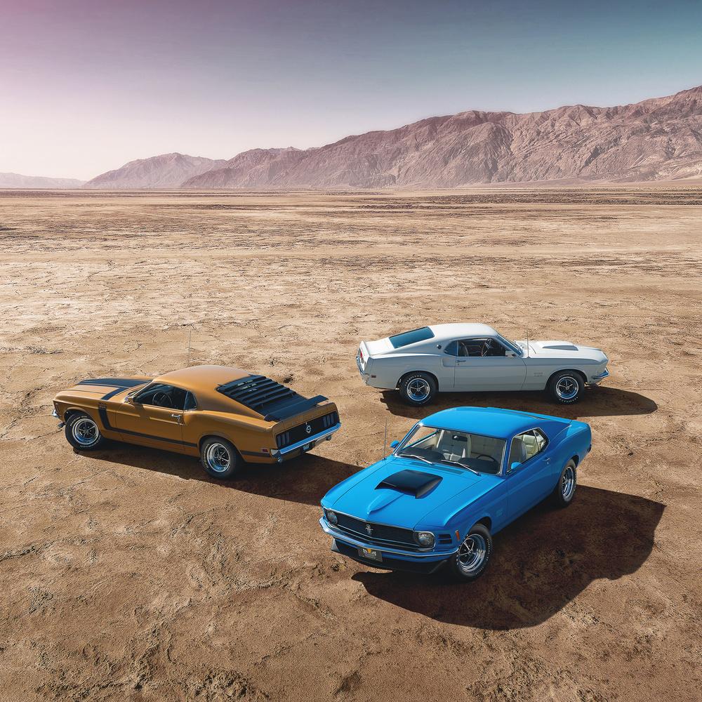 Mustangs in the Desert by Dominic Mann