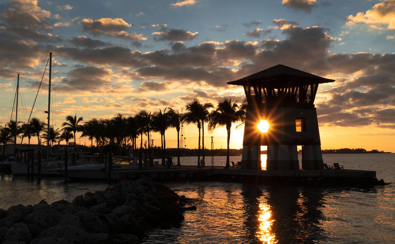 Sunset in the Florida Keys by steven martine