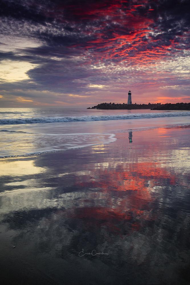 Sunset at Walton Light House by Erick Castellon