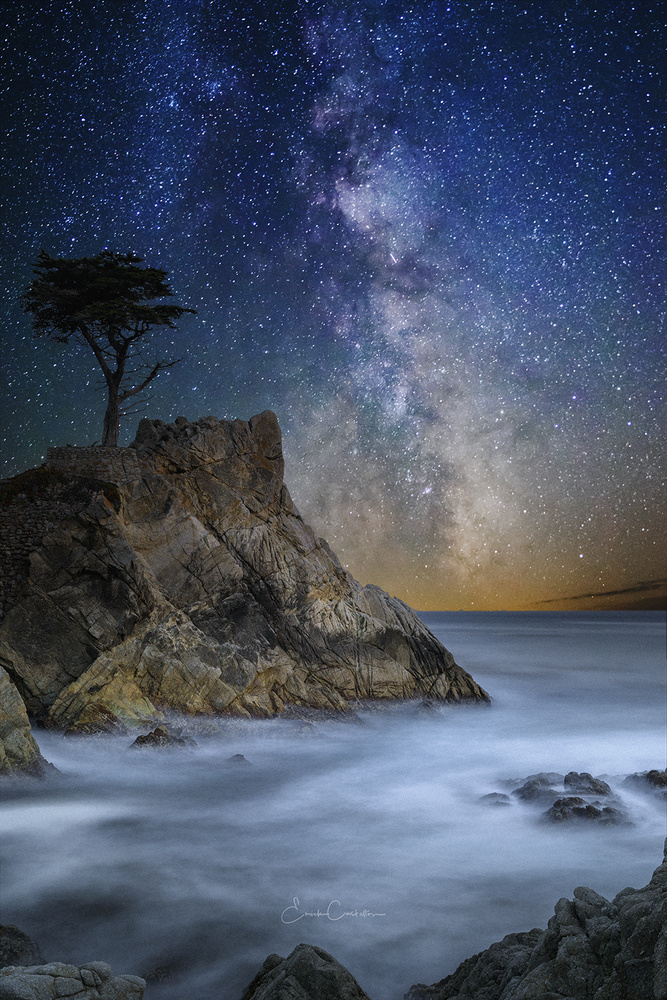 Lone Cypress Milkyway by Erick Castellon