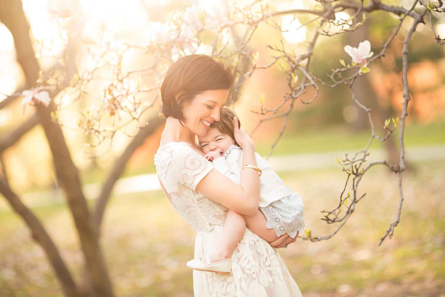 NYC cherry blossom family photography by Emily Burke