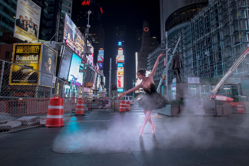 NYC Times Square Ballerina by Ernesto Borges