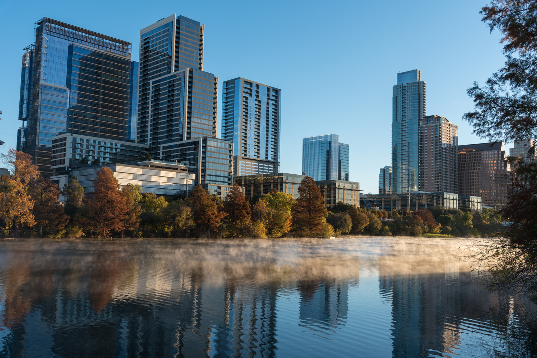 Austin Downtown in Morning Mist by Jason Frels