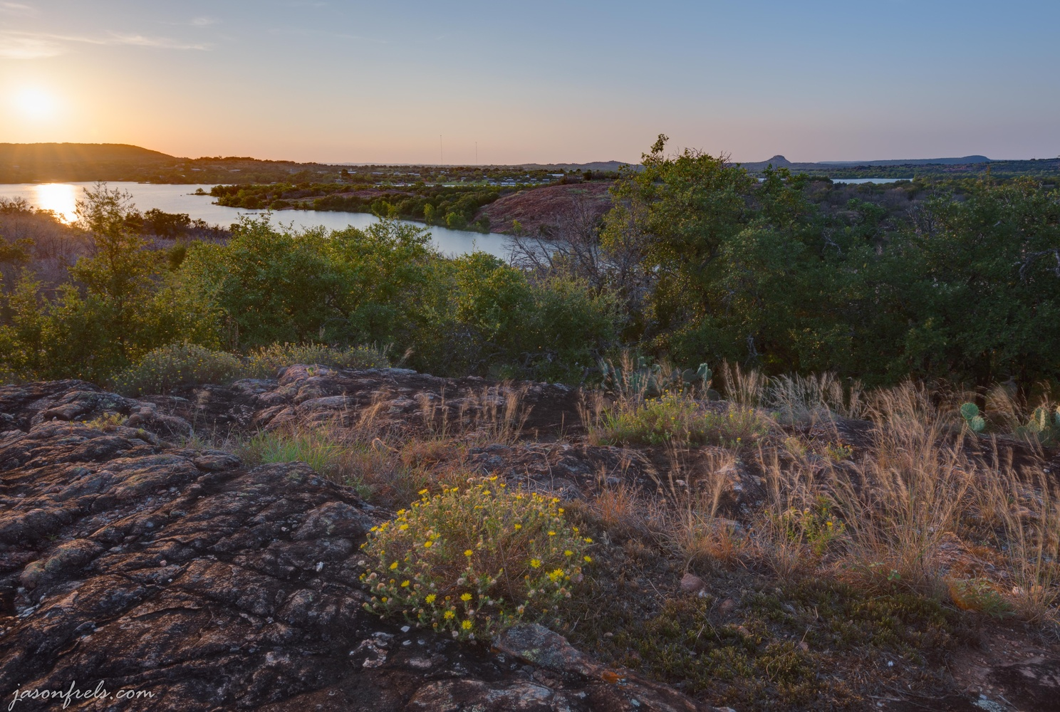 Sunset at Inks Lake by Jason Frels