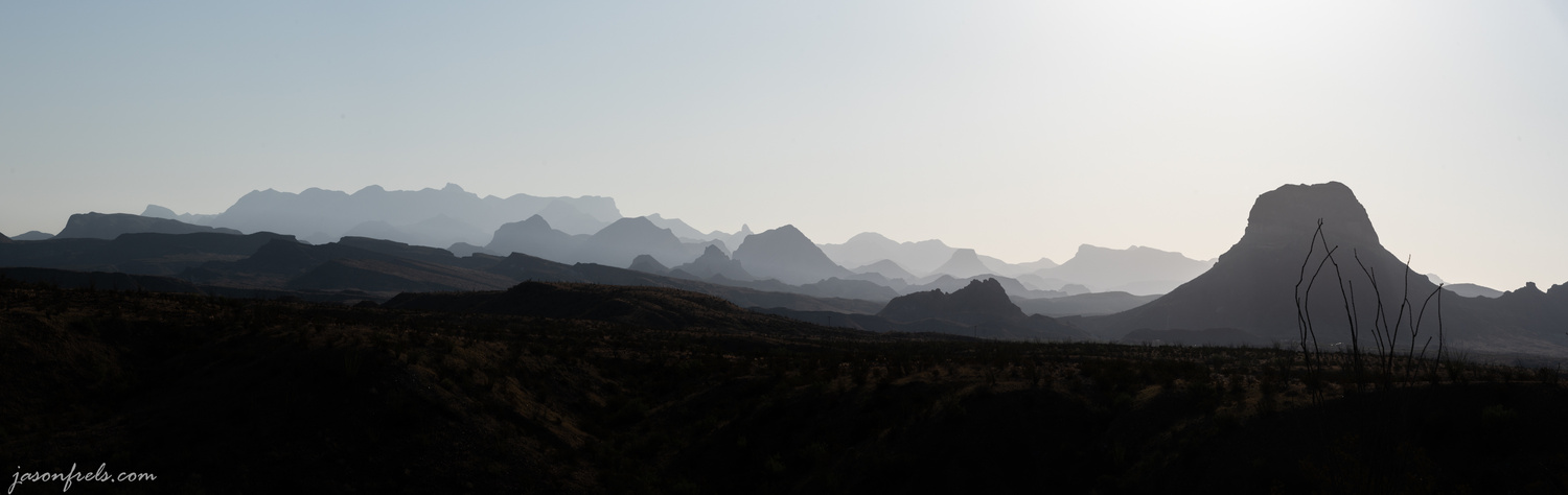Mountains Layered in the Morning Haze by Jason Frels