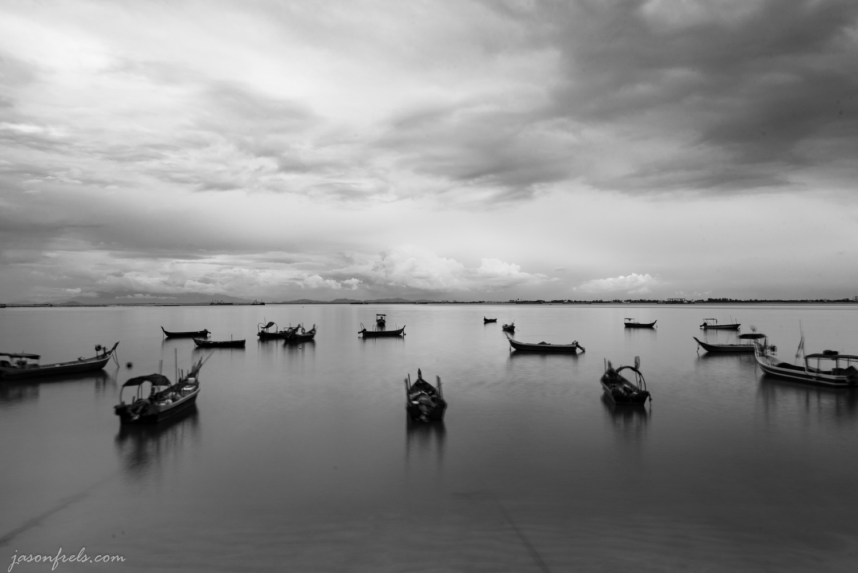 Fishing Boats in Penang by Jason Frels