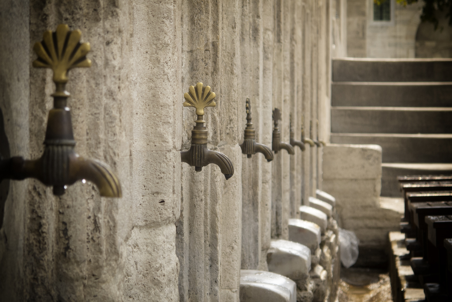 Mosque taps by Fred Preston