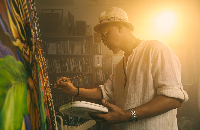 The painter at work, Abu by Shian bang Ngoh