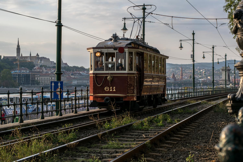 Budapest Tram by Anjan Banerjee