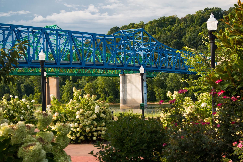 Ashland Ironton Bridge Flowers by Chris Straiton