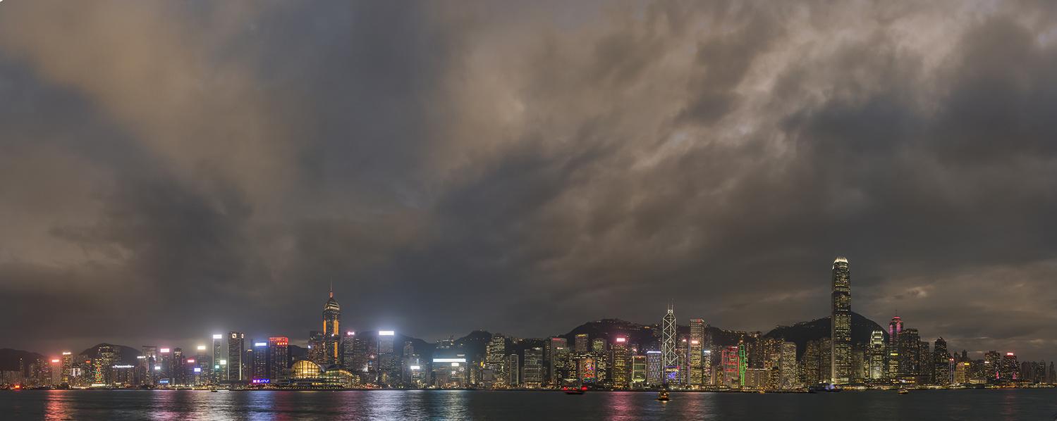 Hong Kong Skyline at Night by Dieter Kaupp