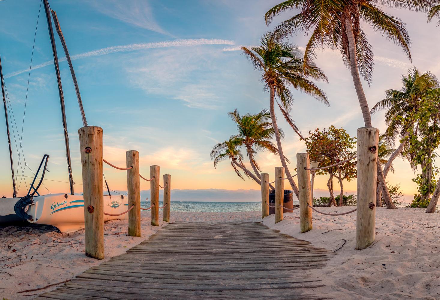Smathers Beach, Key West by Ovi Mustea
