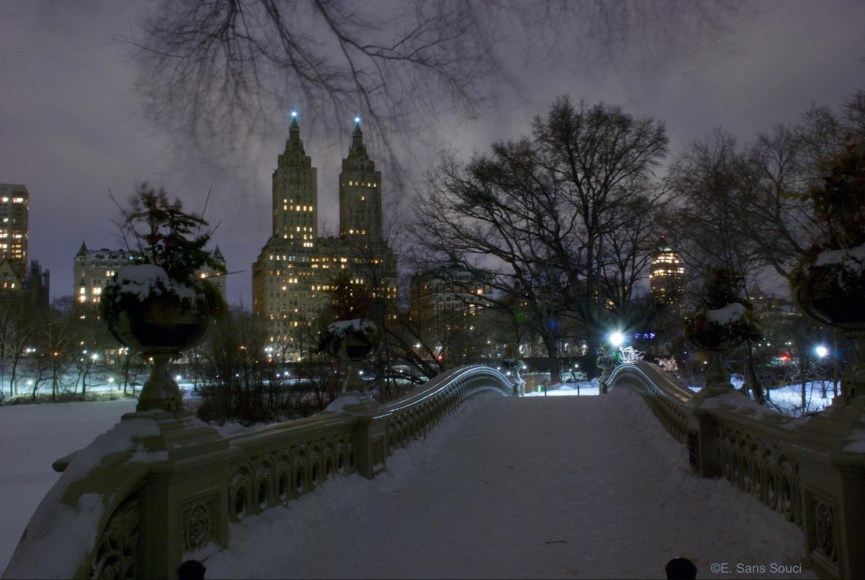 Winter Night On Bow Bridge by Eliza McNally
