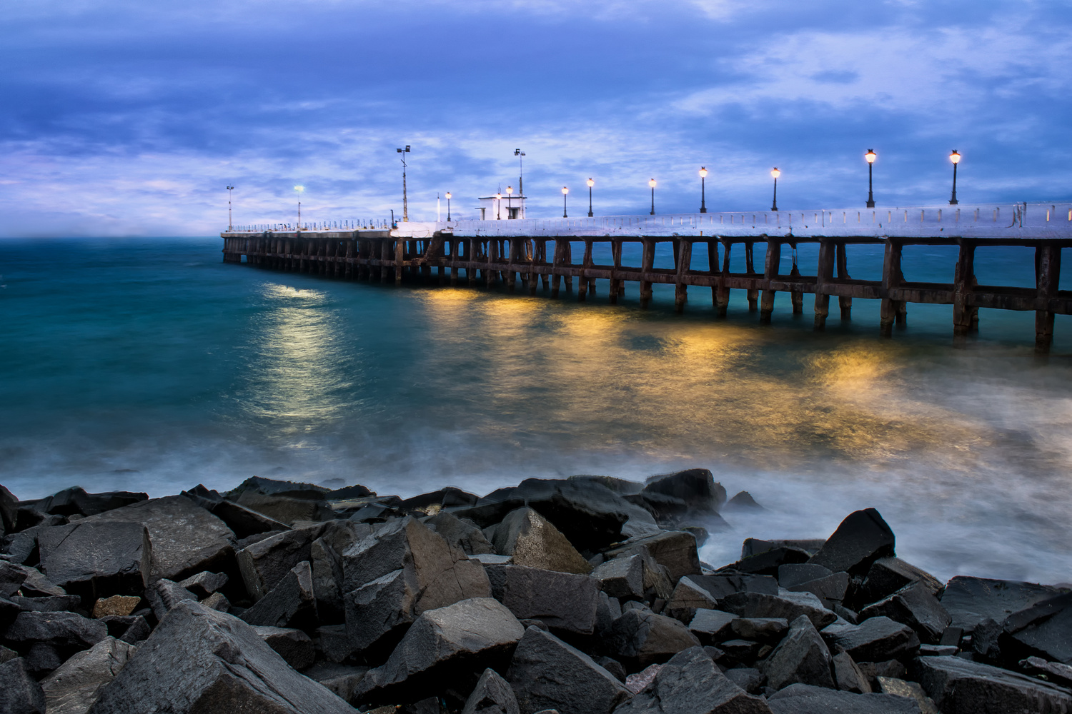 The Harbour bridge - Pondy by Anirudh Raghav