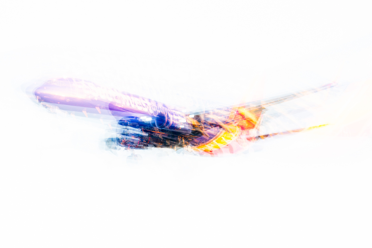 Abstract Jetliner by Michael Oster