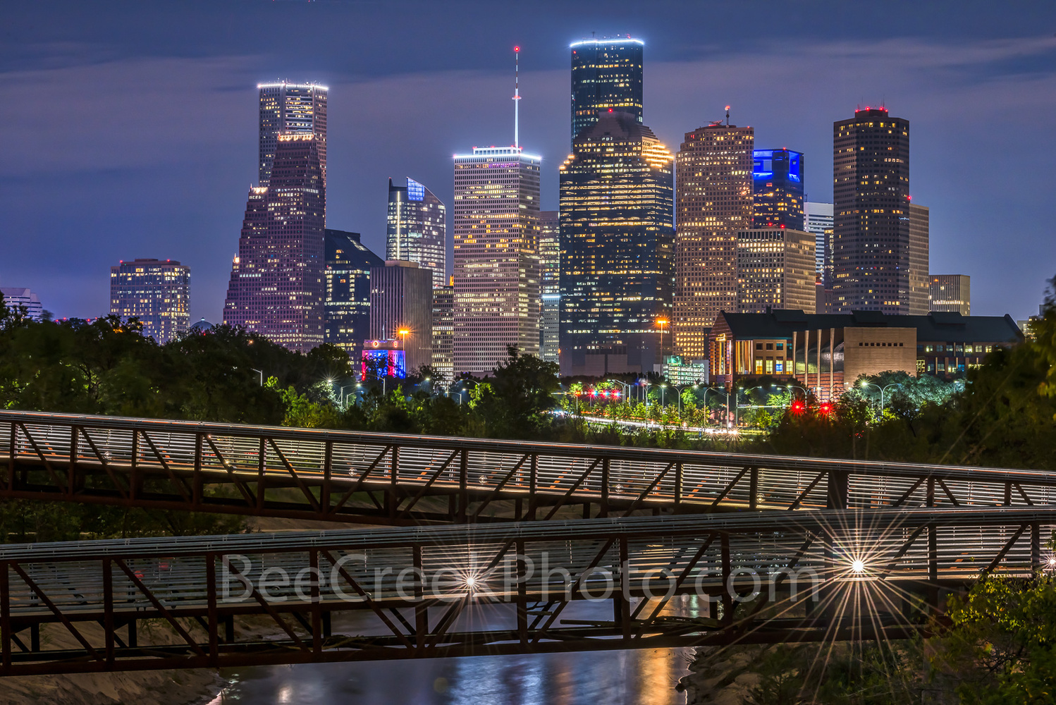 Houston at night  by Tod Grubbs