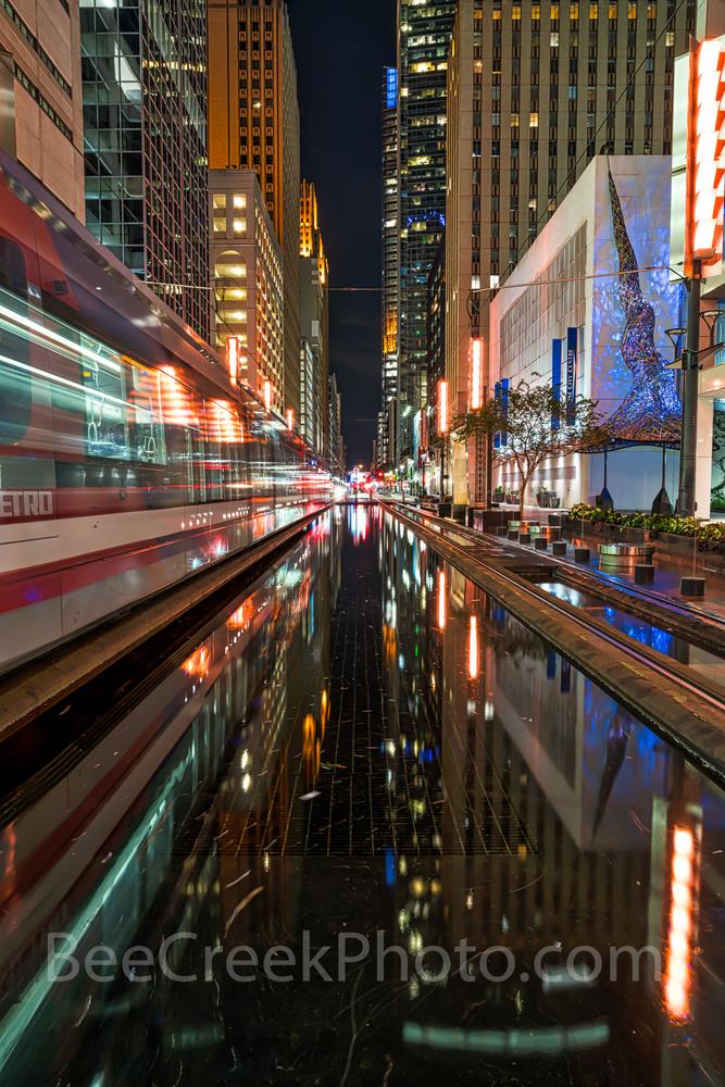 Houston downtown train by Tod Grubbs