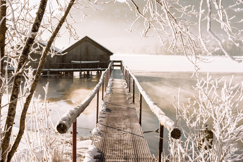 Frosty boathouse by felicitas hoamatgfui