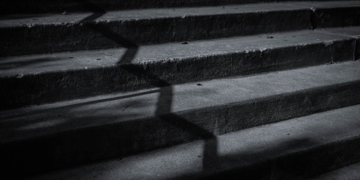 Shadow on the Stairs by Duane Dinham