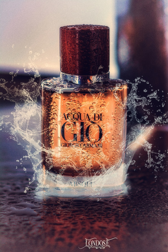 Armani product photography by Erion Londo