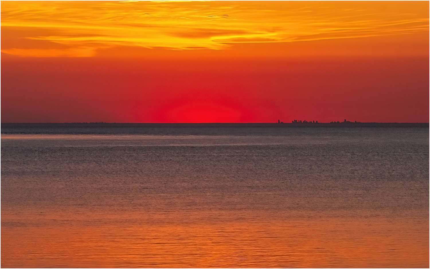 Lake Ontario Sunset by Cliff Mueller