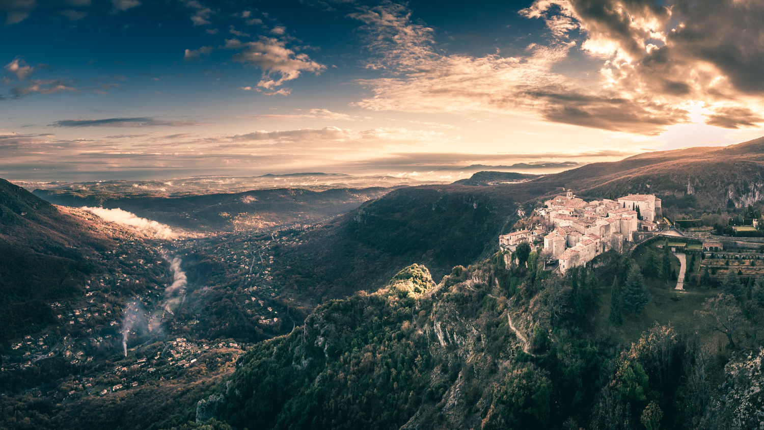 French Riviera just after a storm by Denis Degioanni