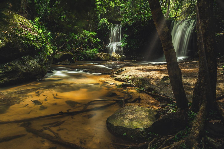 Waterfalls of Kbal Spean by ARNAUD HUYGENS