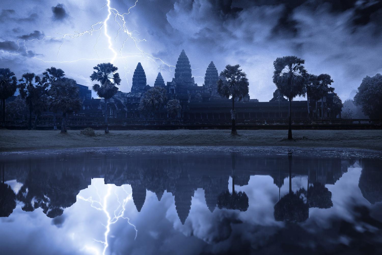 The temple of Angkor Wat by ARNAUD HUYGENS