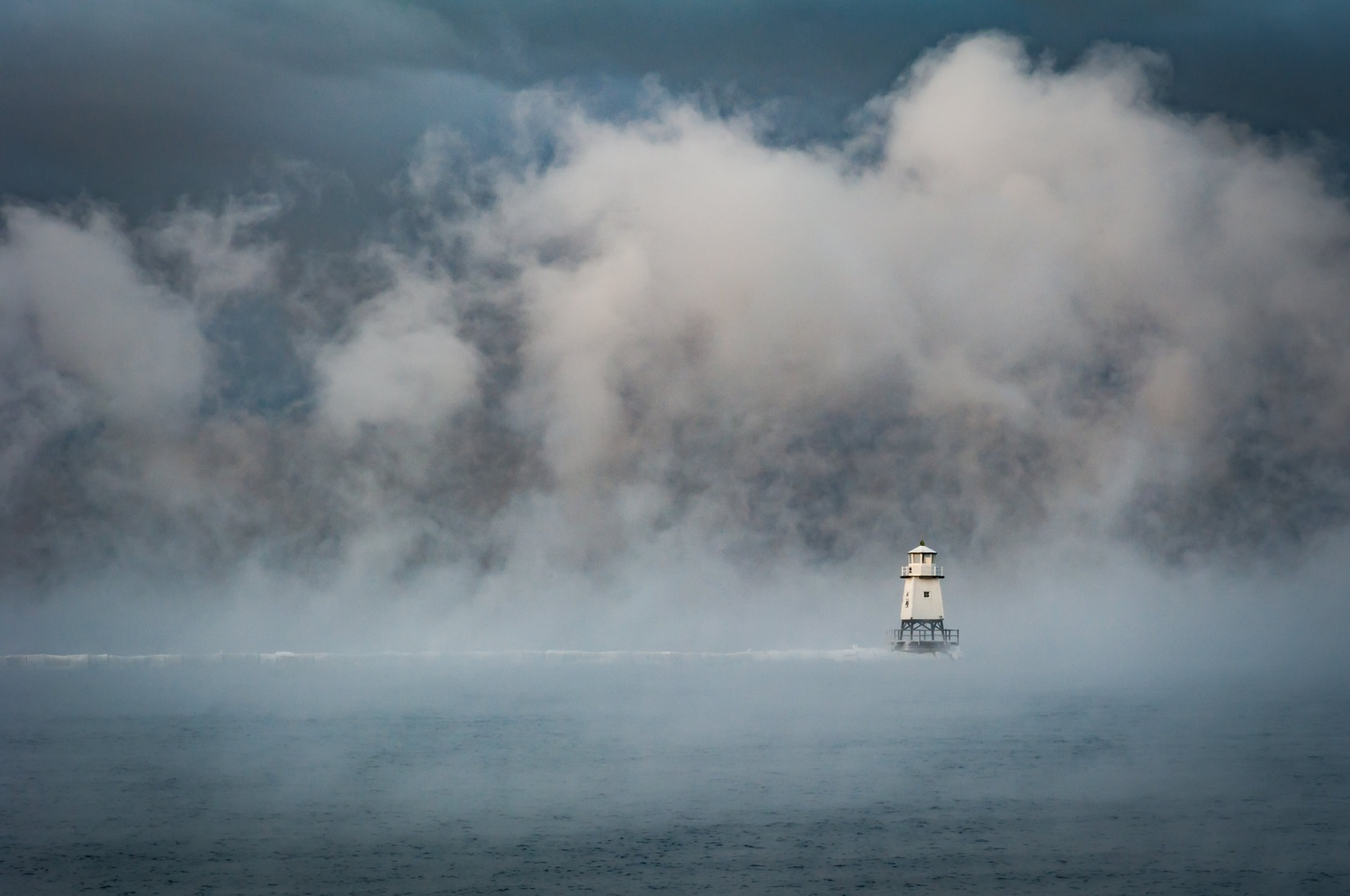 Lighthouse in the mist by Lee Stirling