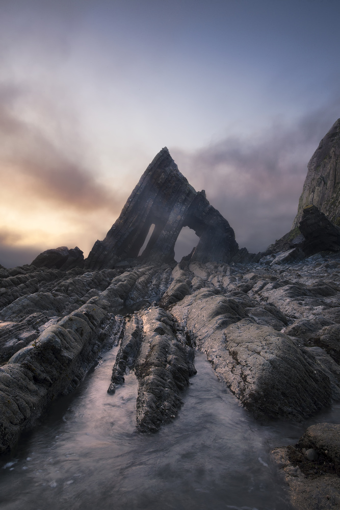 Black Church Rock in the Fog by Jason Brown