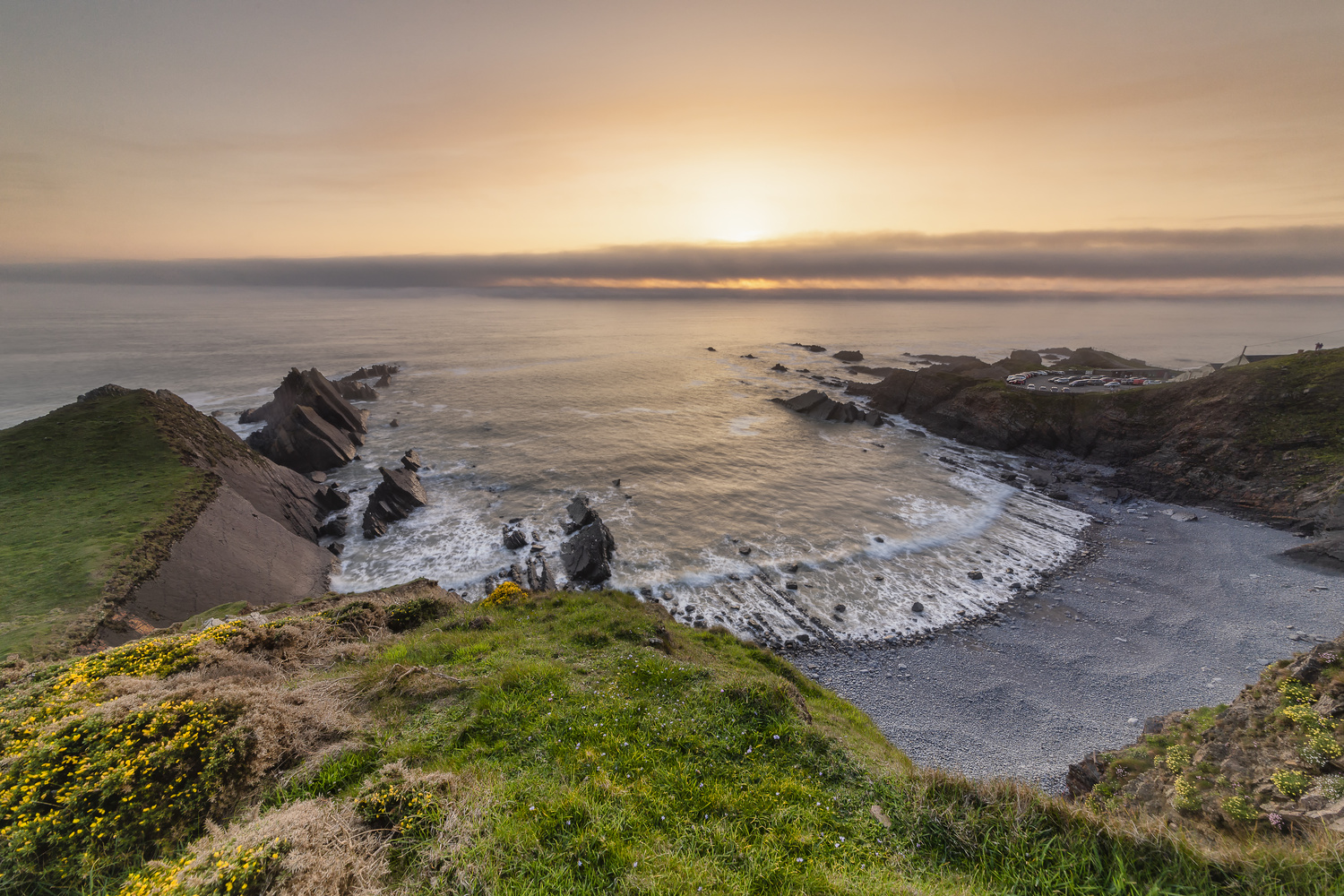 Hartland Quay before the Fog by Jason Brown