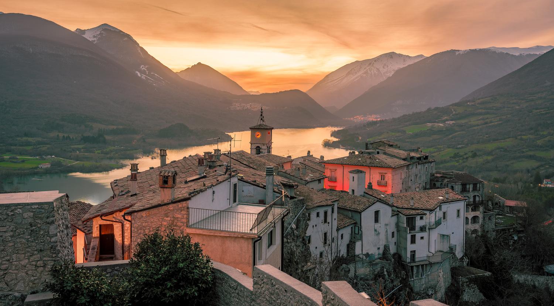 Barrea Lake Abruzzo by Leon Brouwer