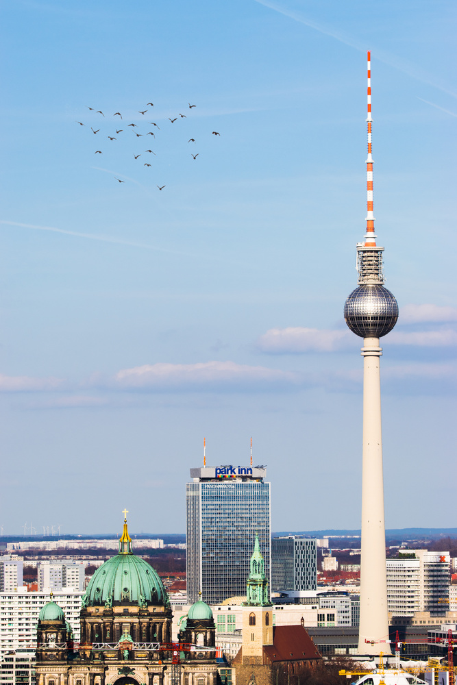 Berlin TV Tower and the birds by Mo Moghaddas