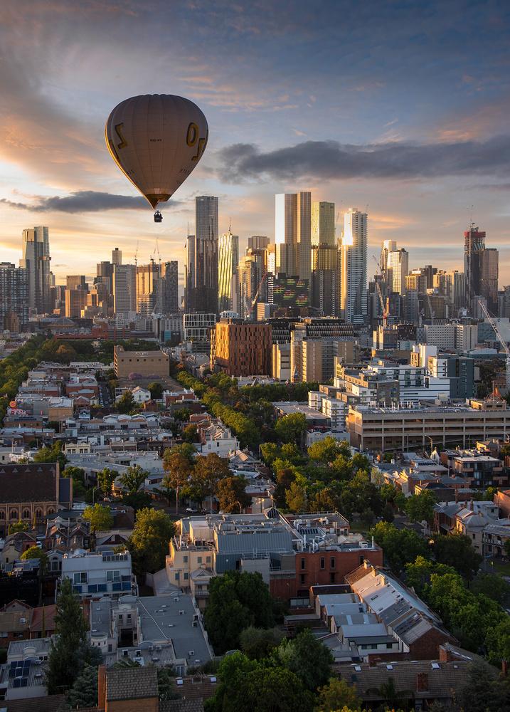 Melbourne Skyline II by Donald Yip