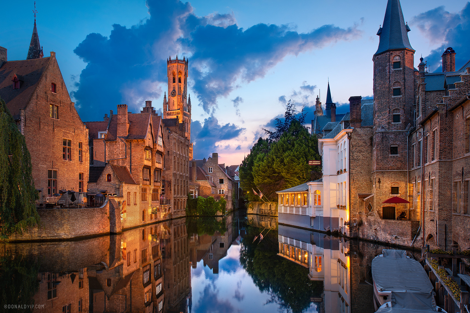 Brugge In Blue - Belgium by Donald Yip