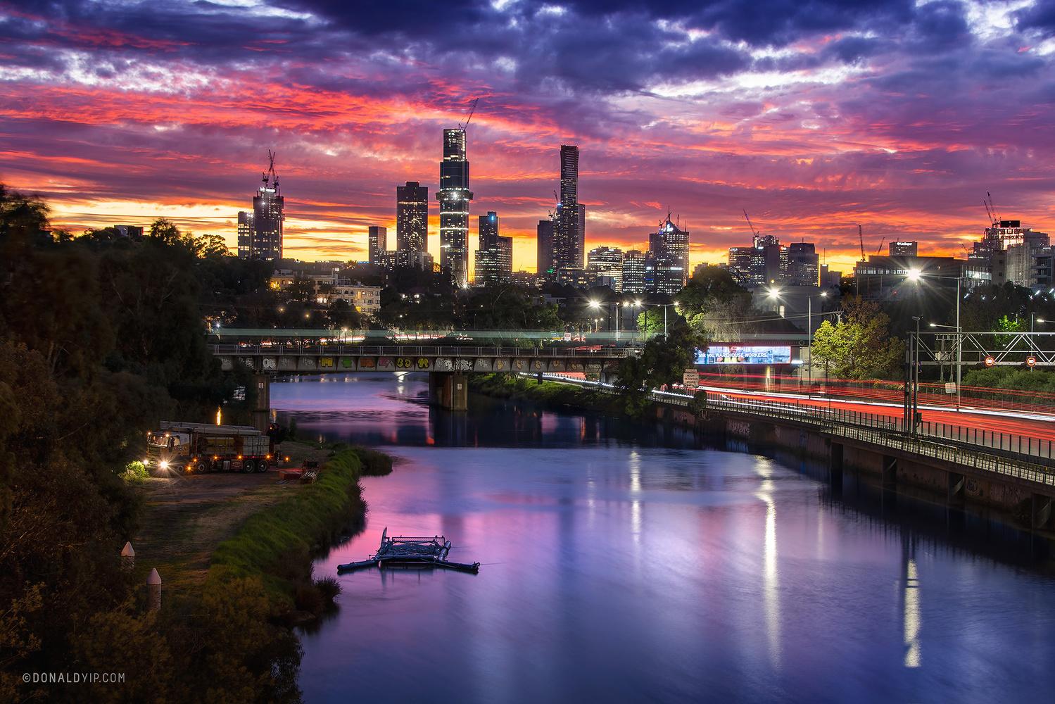 Melbourne Skyline by Donald Yip