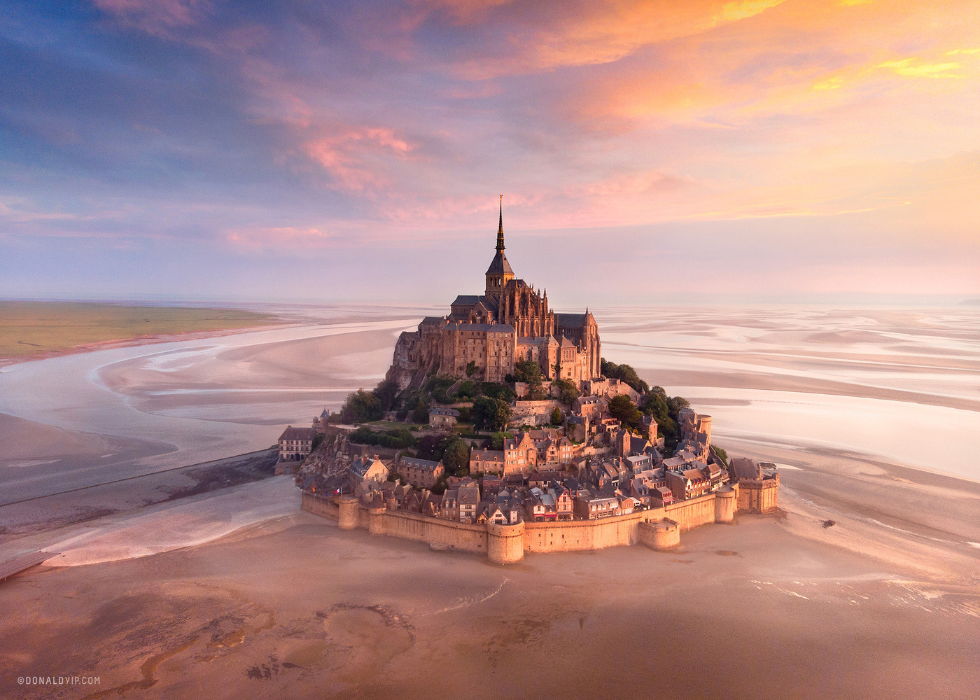 The Magnificent Mont - Normandy, France by Donald Yip