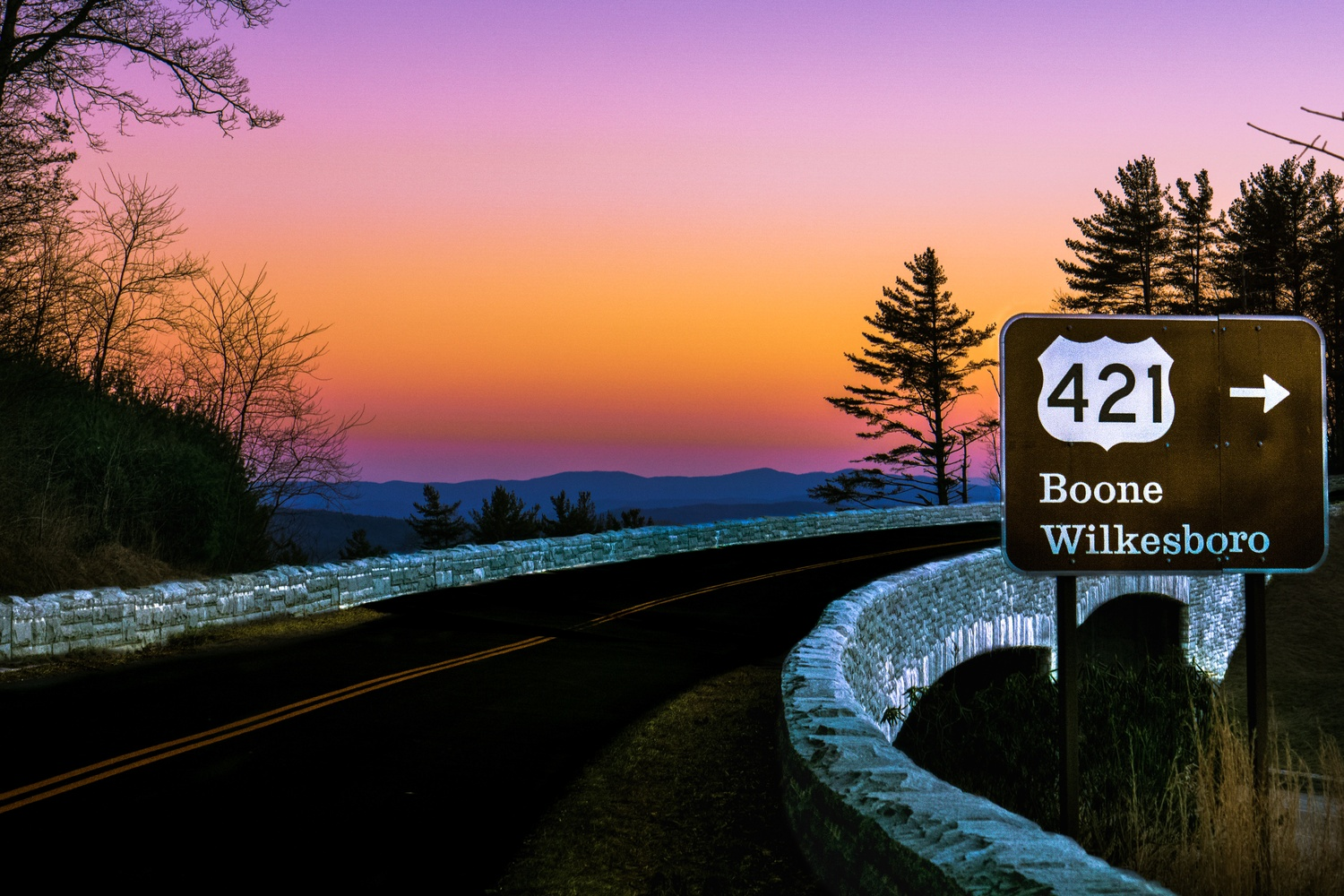 Sunset on the Blue Ridge Parkway by Tanner Goodman